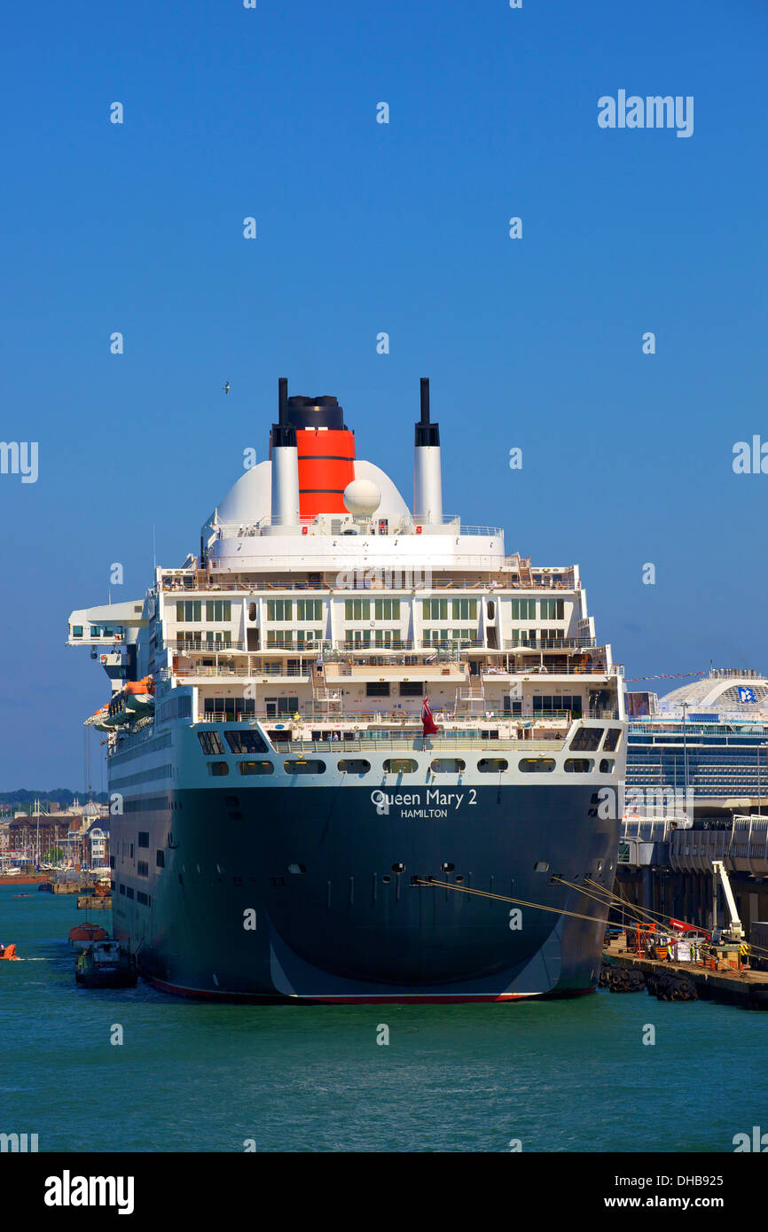 Queen Mary 2, Southampton, Hampshire, United Kingdom - Stock Image