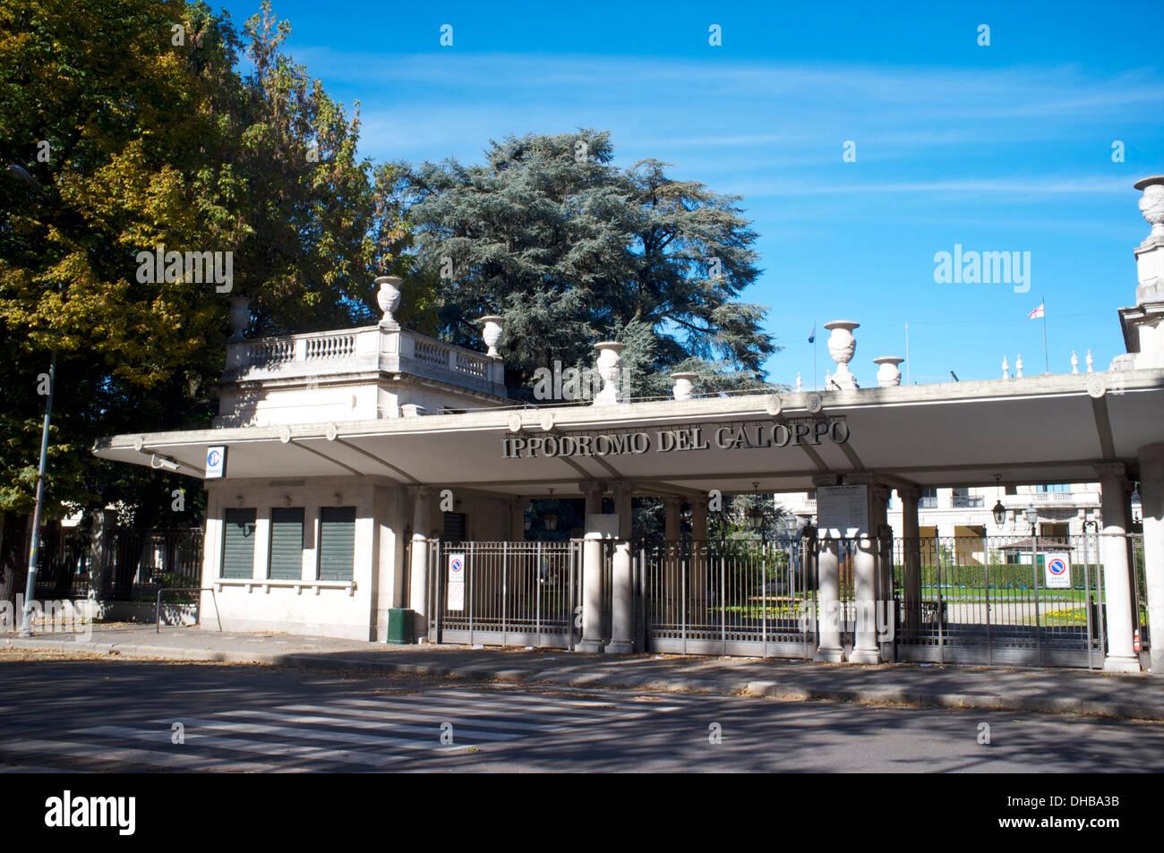 Hippodrome of San Siro, Milan, Lombardy, Italy Stock Photo