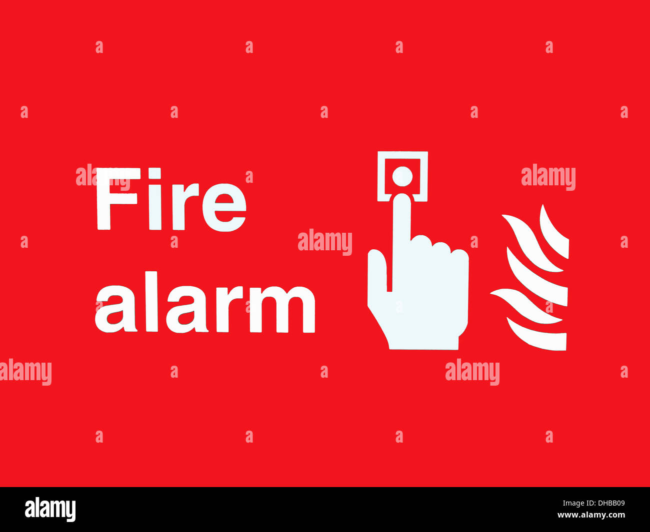 Fire point  Alarm Warning Sign - Stock Image