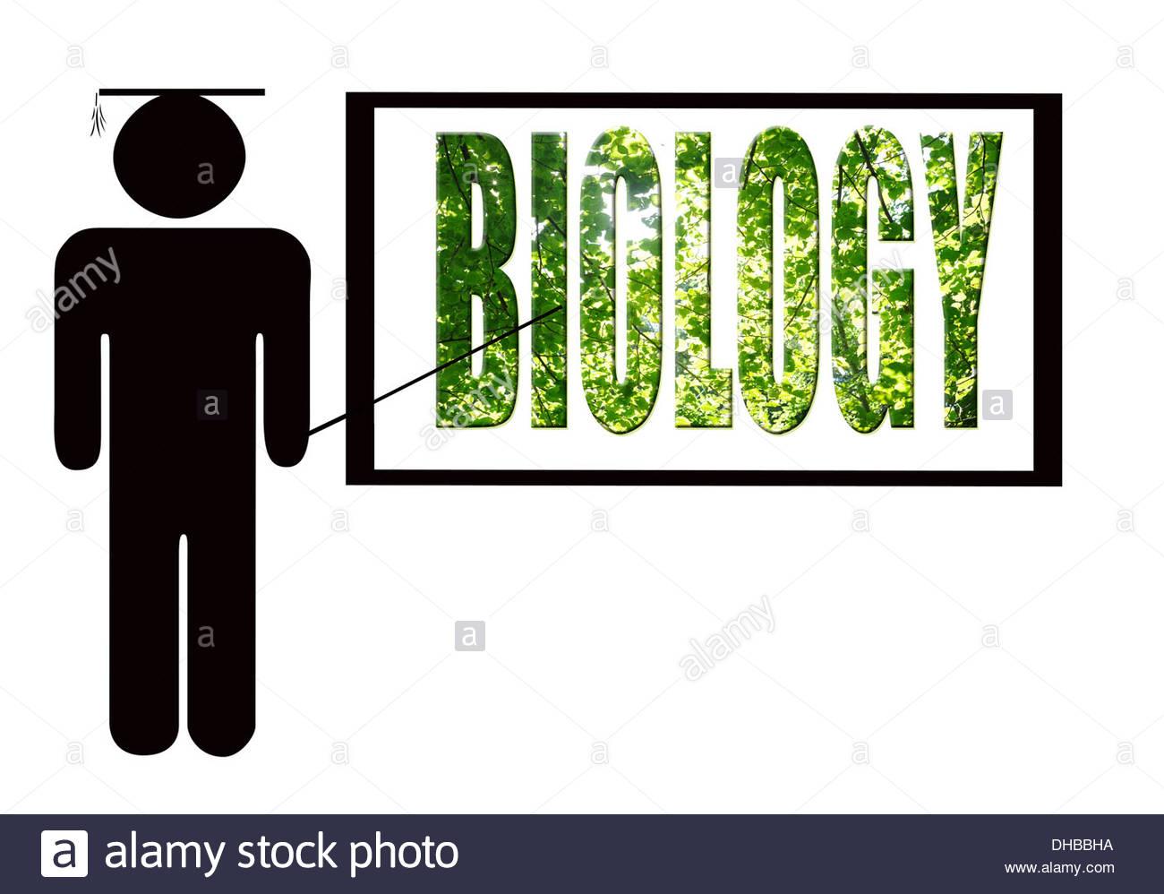 Digital composition - Biology teacher - Stock Image