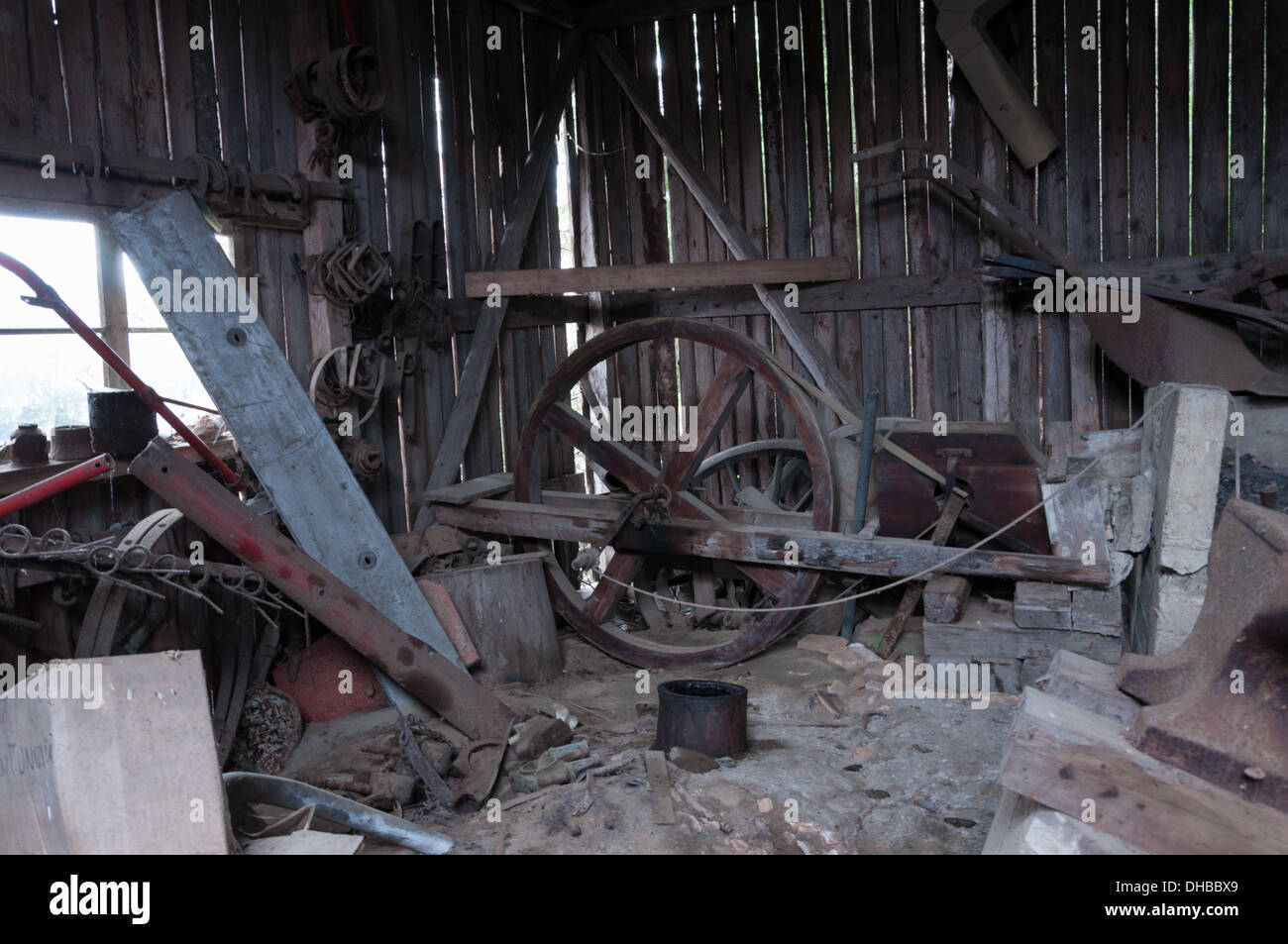 photos from an abandoned forge in Finland - Stock Image