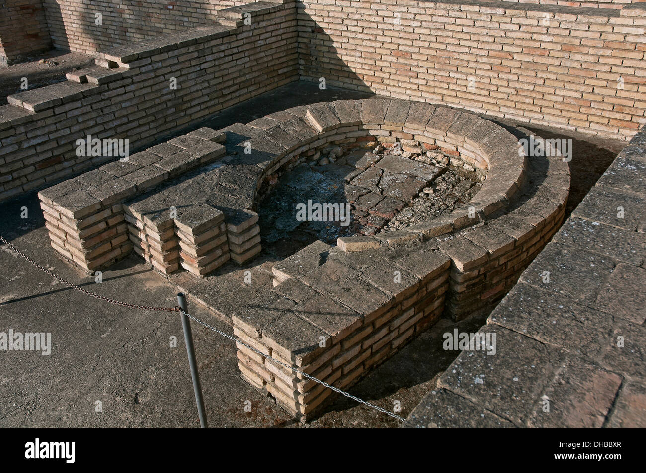 Bread oven, House of the Birds, Roman ruins of Italica, Santiponce, Seville-province, Region of Andalusia, Spain, Europe - Stock Image