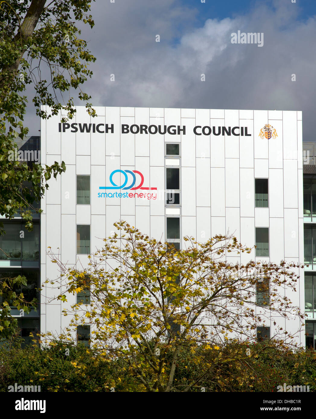 Ipswich Borough Council offices on the south side of Russel Road - Stock Image