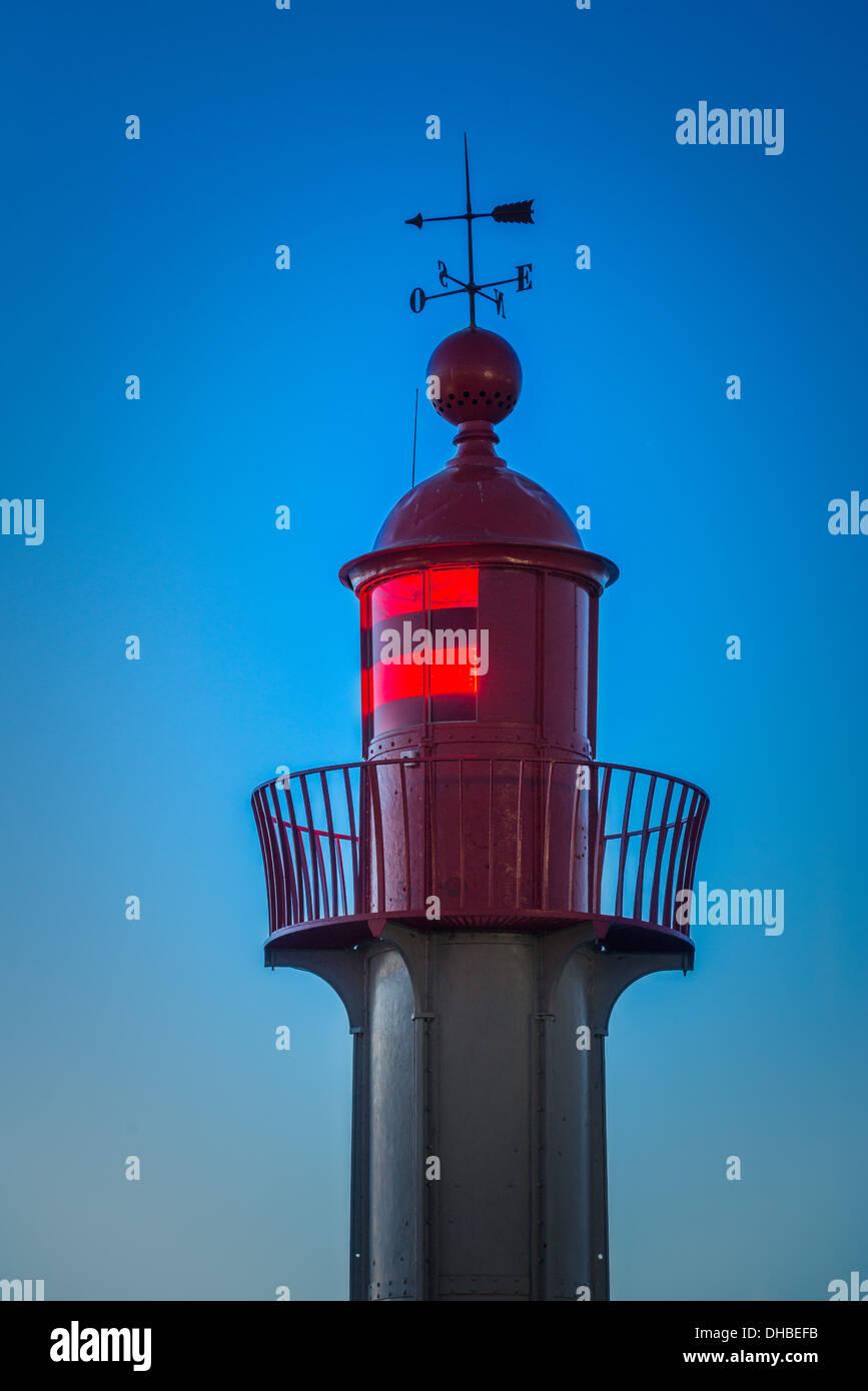 Lighthouse.  Trouville sur Mer lighthouse. Normandy. France Stock Photo