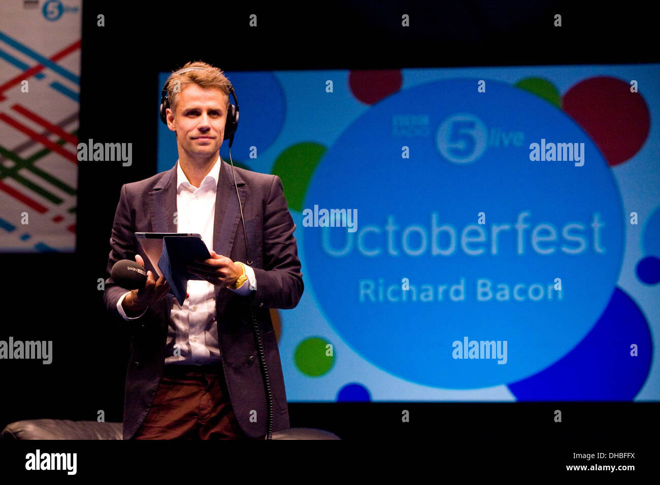 Richard Bacon at BBC Radio 5 Live Octoberfest in Sheffield Thursday 11/10/12 Stock Photo