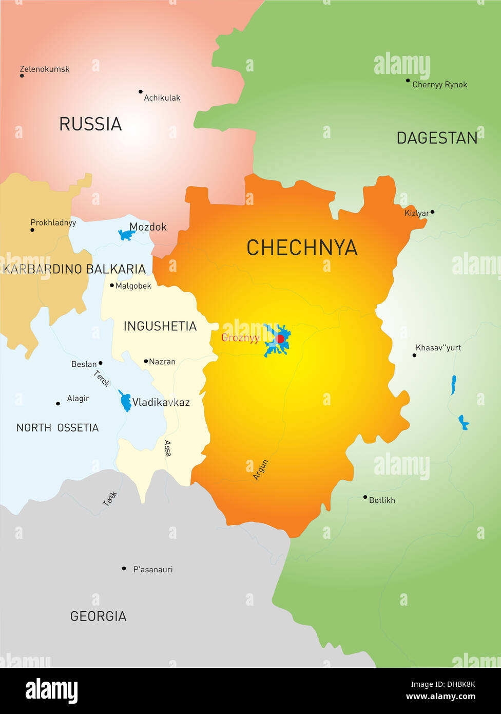 Chechen Republic country - Stock Image