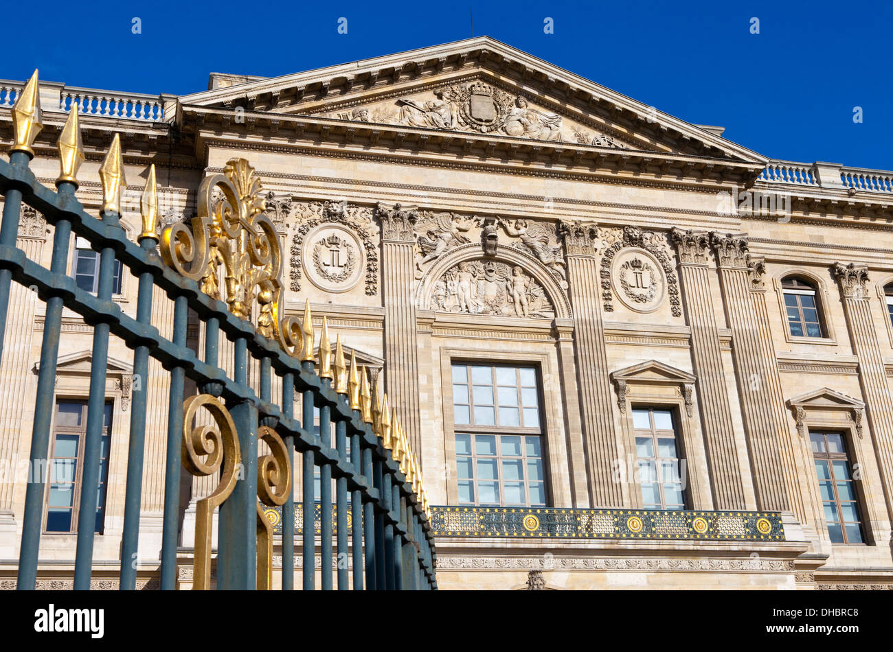 The Galerie d'Apollon in Paris, France - Stock Image