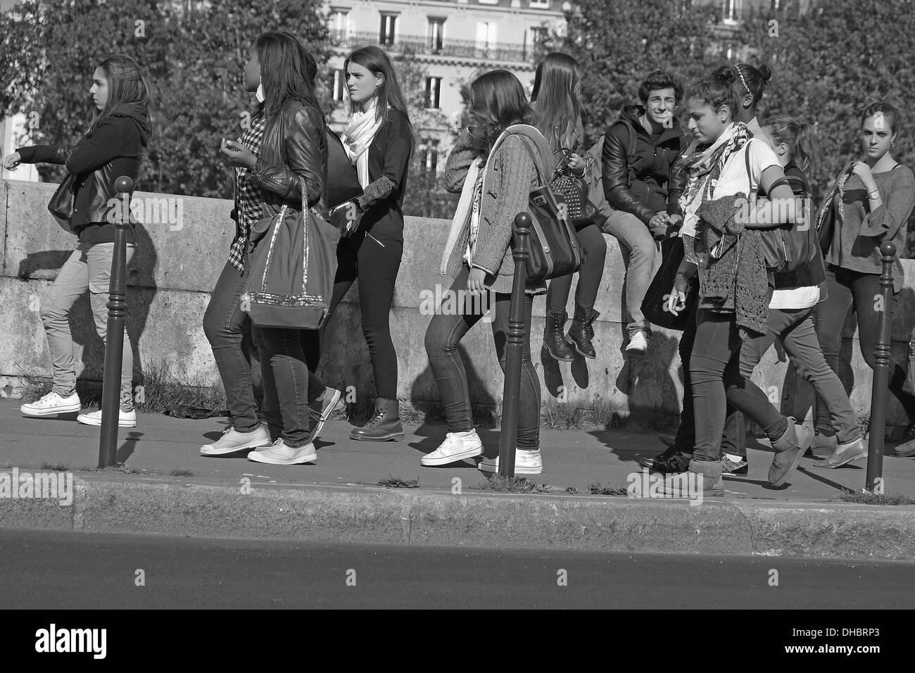 School kids after school time. - Stock Image