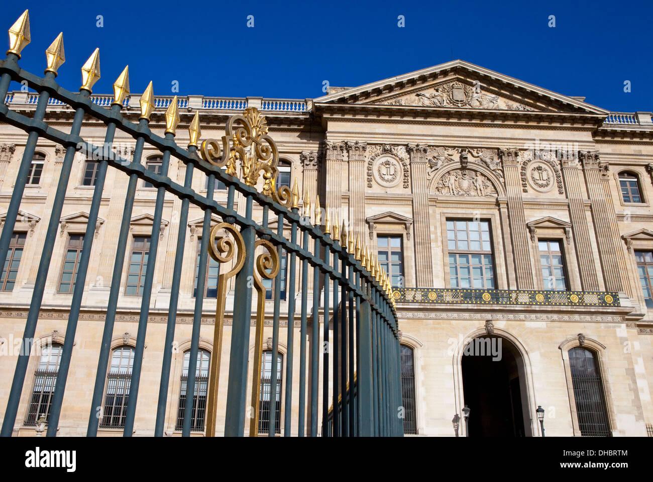 The Galerie d'Apollon in Paris. - Stock Image