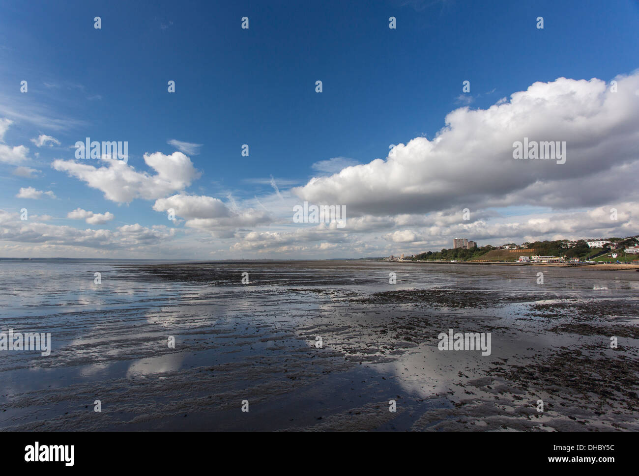12/10/2013 View from Southend pier of Southend-On-Sea and Westcliff-On-Sea. Stock Photo