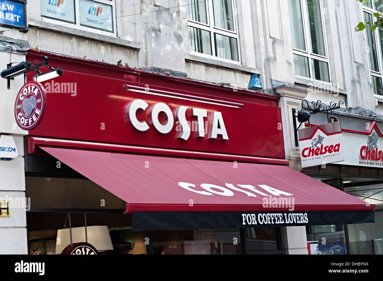 Costa Coffee Birmingham Coffee House Stock Photo 62343510