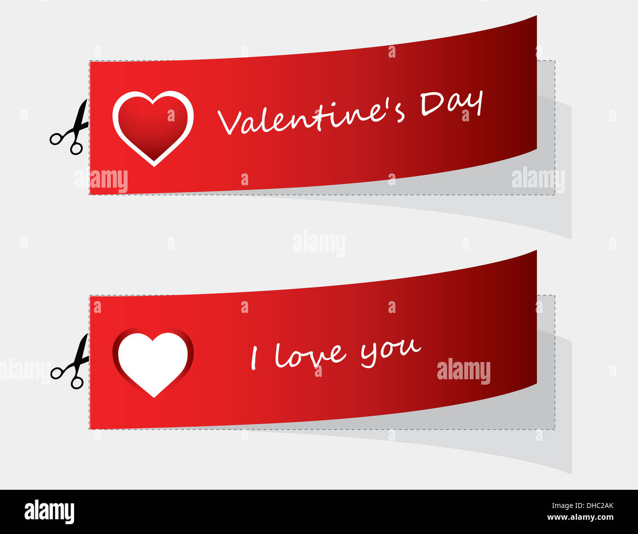 special labels for Valentine's day - Stock Image