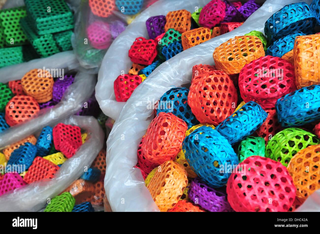 Colourful Handicrafts At Bangkok Chatuchak Weekend Market Thailand