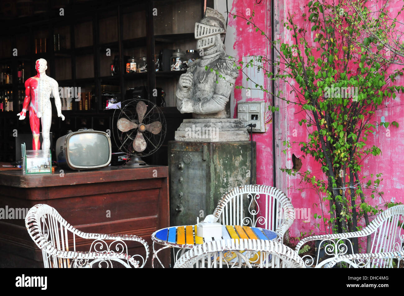 Bangkok Chatuchak Weekend Market, Thailand - cafe - Stock Image