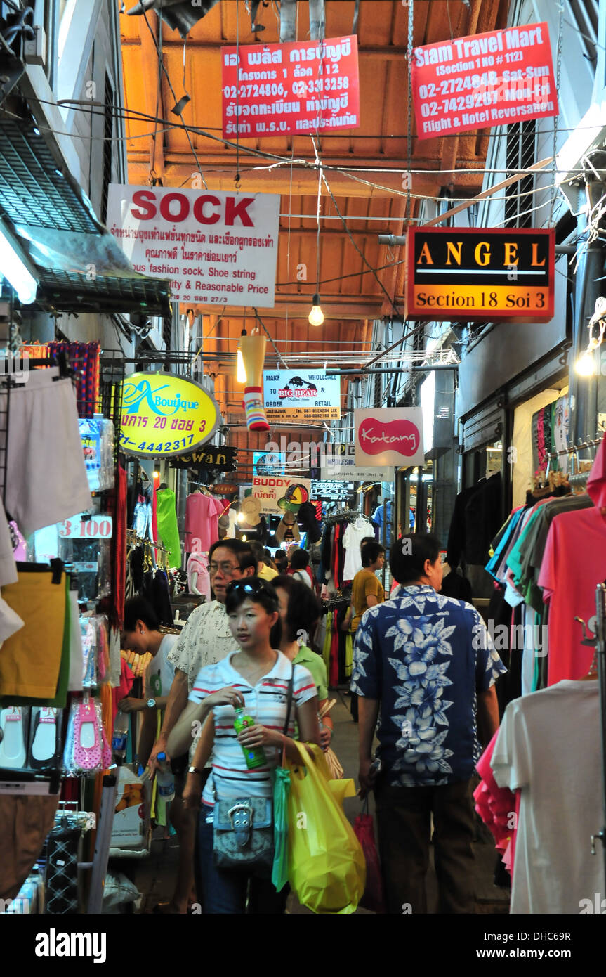 Bangkok Chatuchak Weekend Market, Thailand - Stock Image