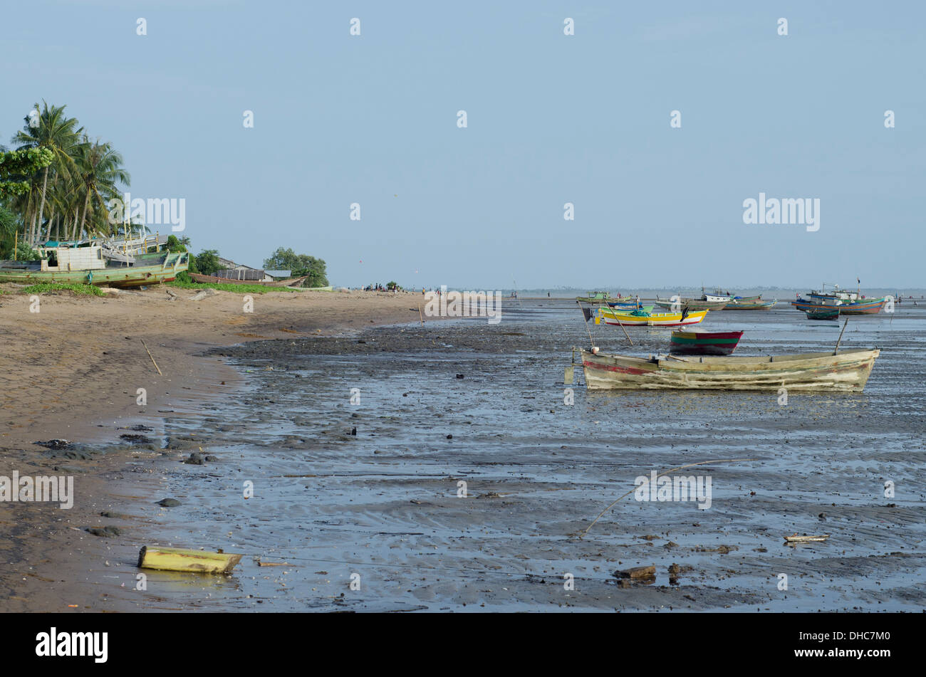 Fishing boats in Ketapang, West Kalimantan (Indonesian Borneo) - Stock Image