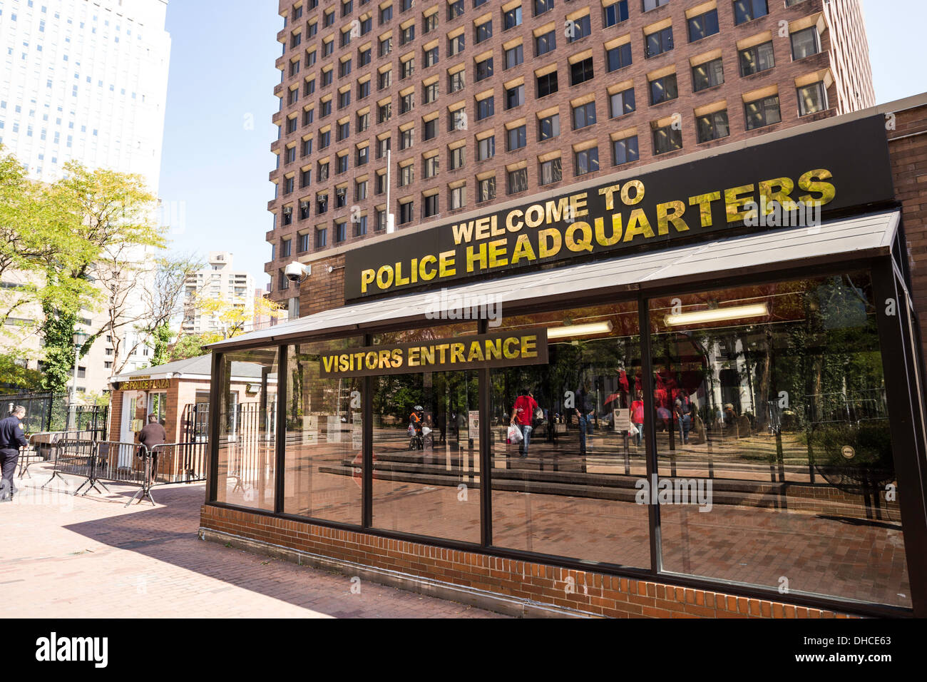New York City Police Headquarters,  Visitors Entrance, One Police Plaza, NYC