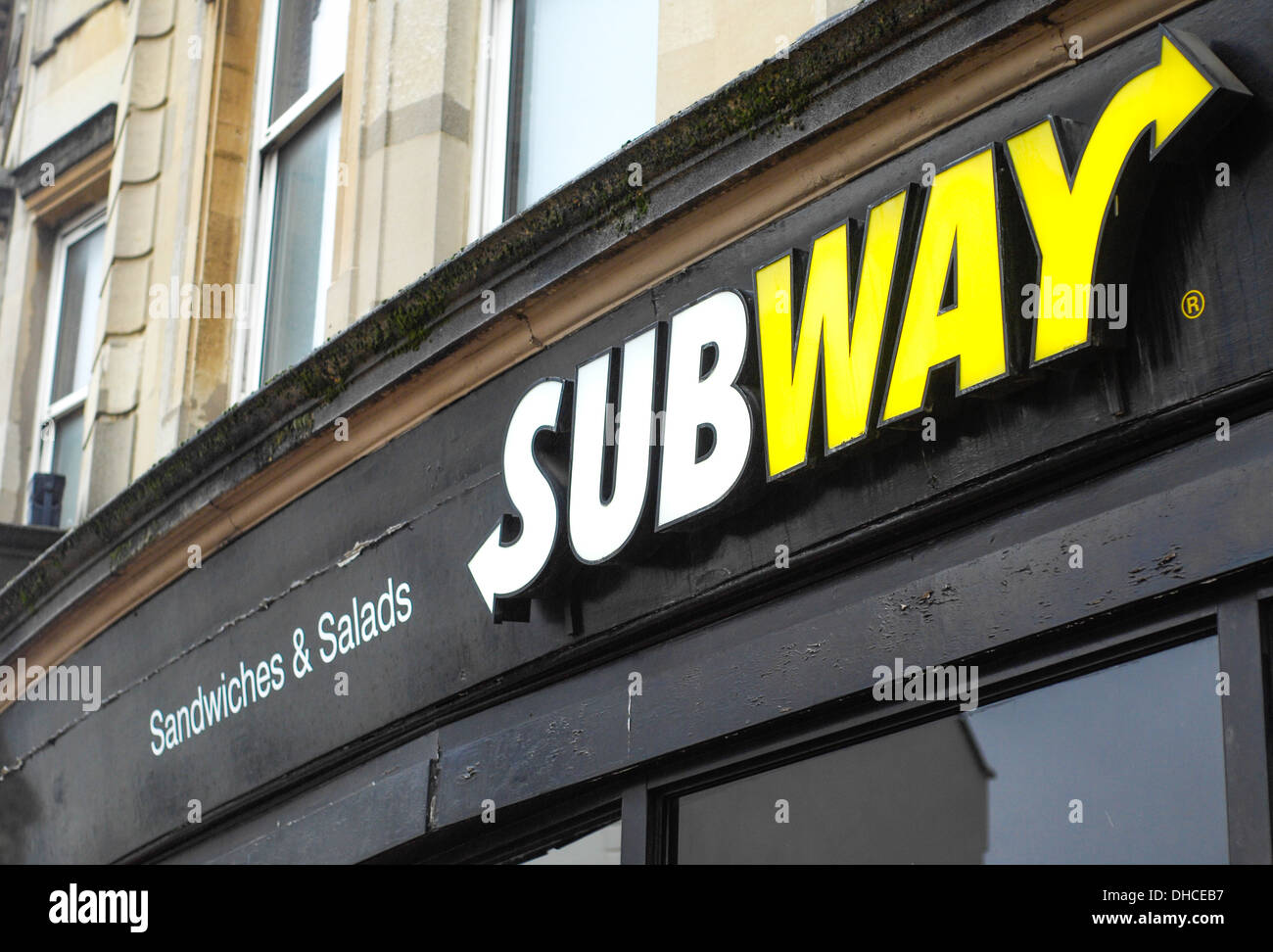 Subway sandwiche Salad shop - Stock Image