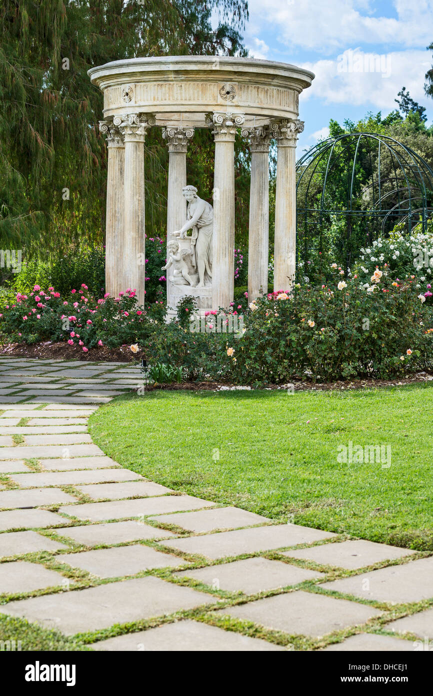 Temple Of Love Statue At The Rose Garden Of The Huntington Library Stock Photo Alamy
