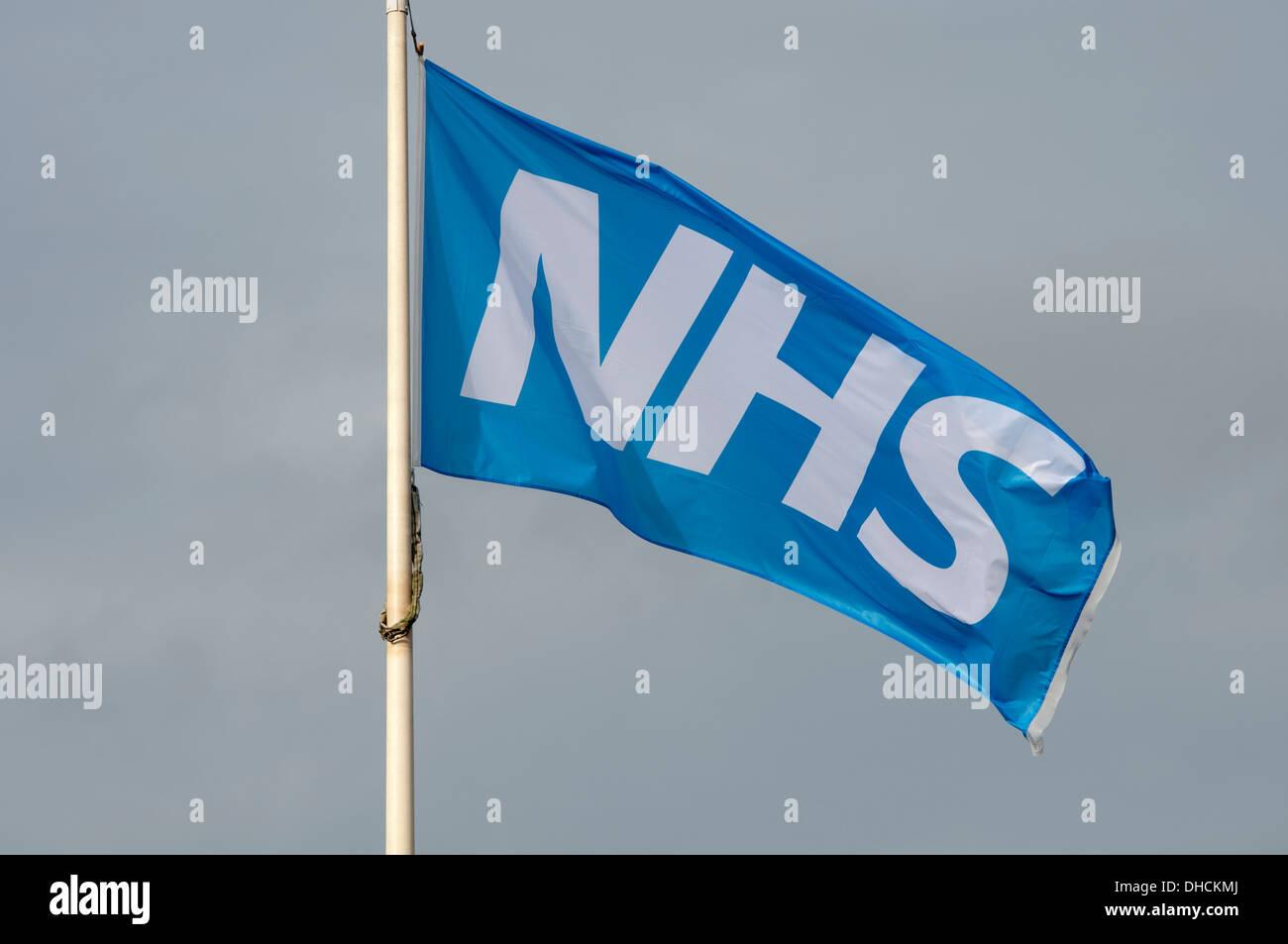 NHS flag - Stock Image