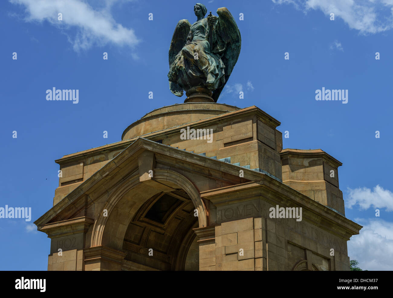 The Anglo-Boer War Memorial. On the grounds of the Museum of Military History in Saxonwold, Johannesburg. - Stock Image