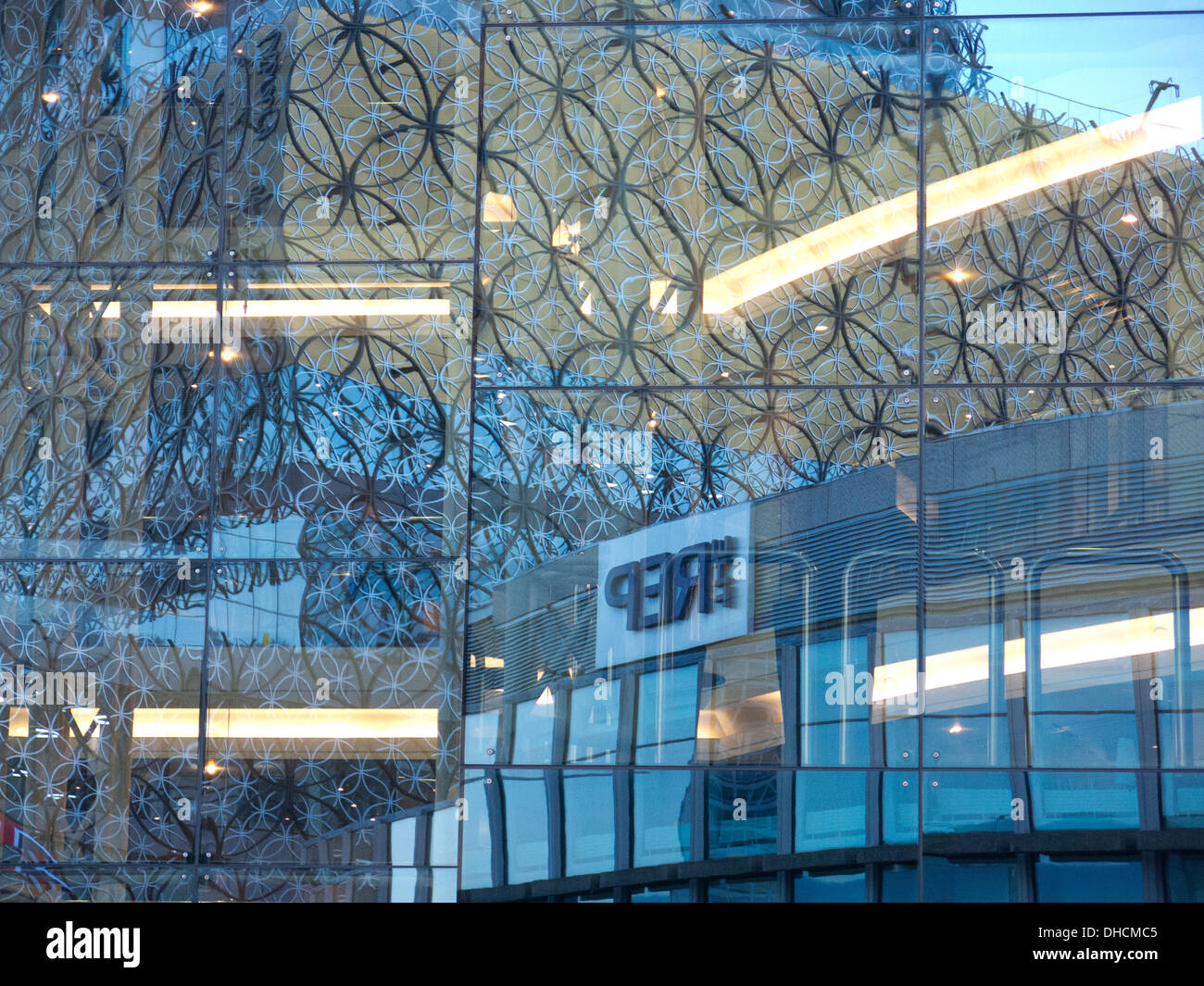 plate glass windows glass window sill view of the new birmingham city library reflected in plate glass window stock image plate glass window photos images