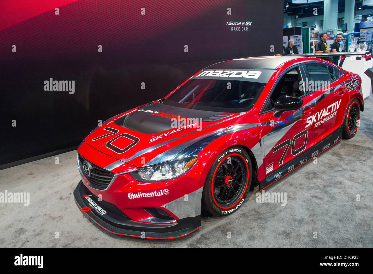 Las Vegas Nevada Usa 5th November 2013 Mazda 6 Gx Race Car At