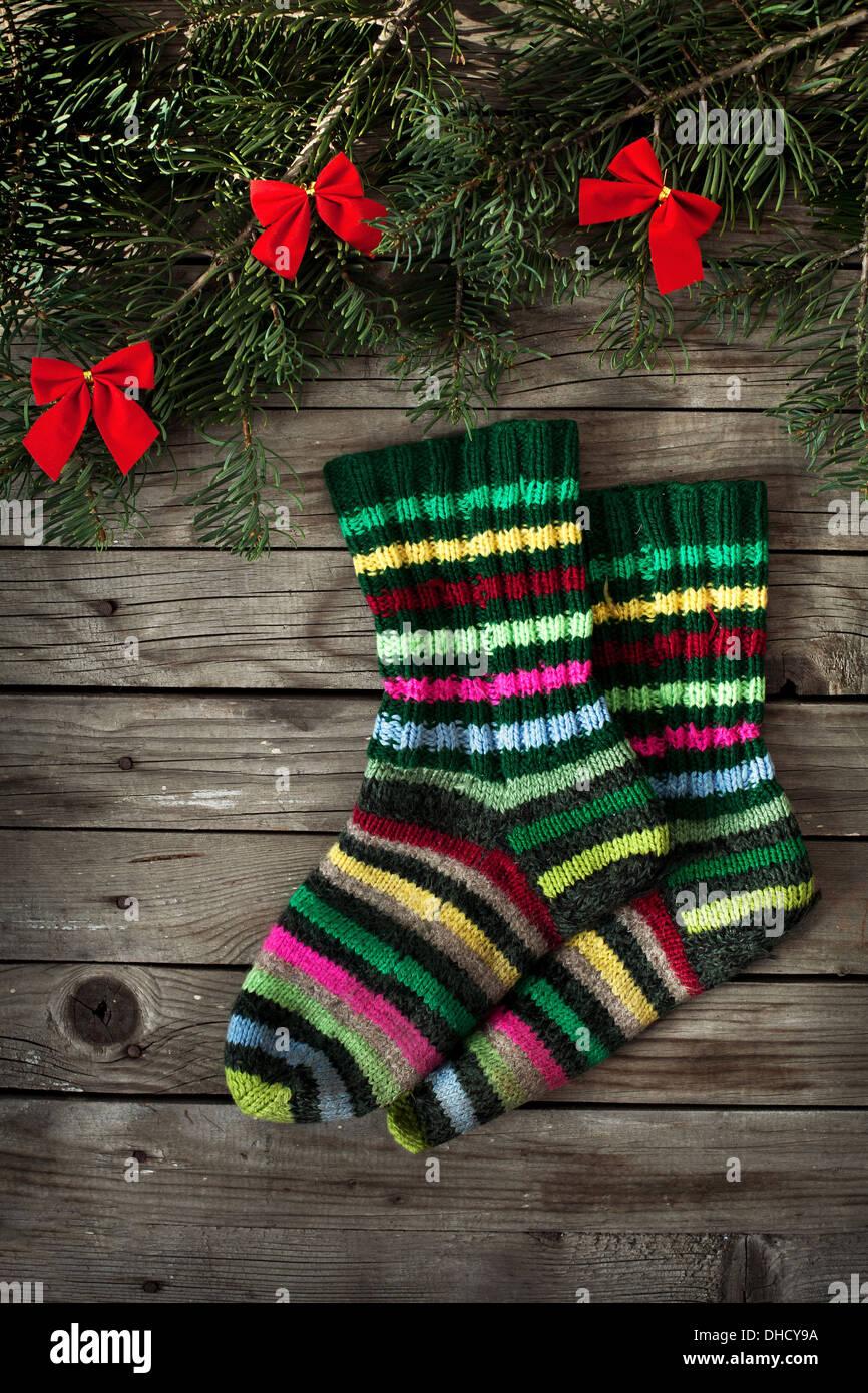 christmas socks - Stock Image