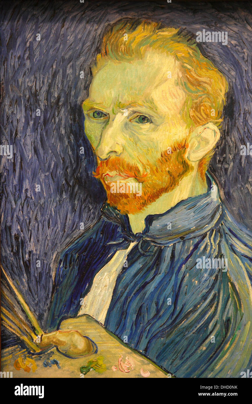 Selfportrait by Van Gogh, National Gallery of Art, Washington D.C., USA - Stock Image