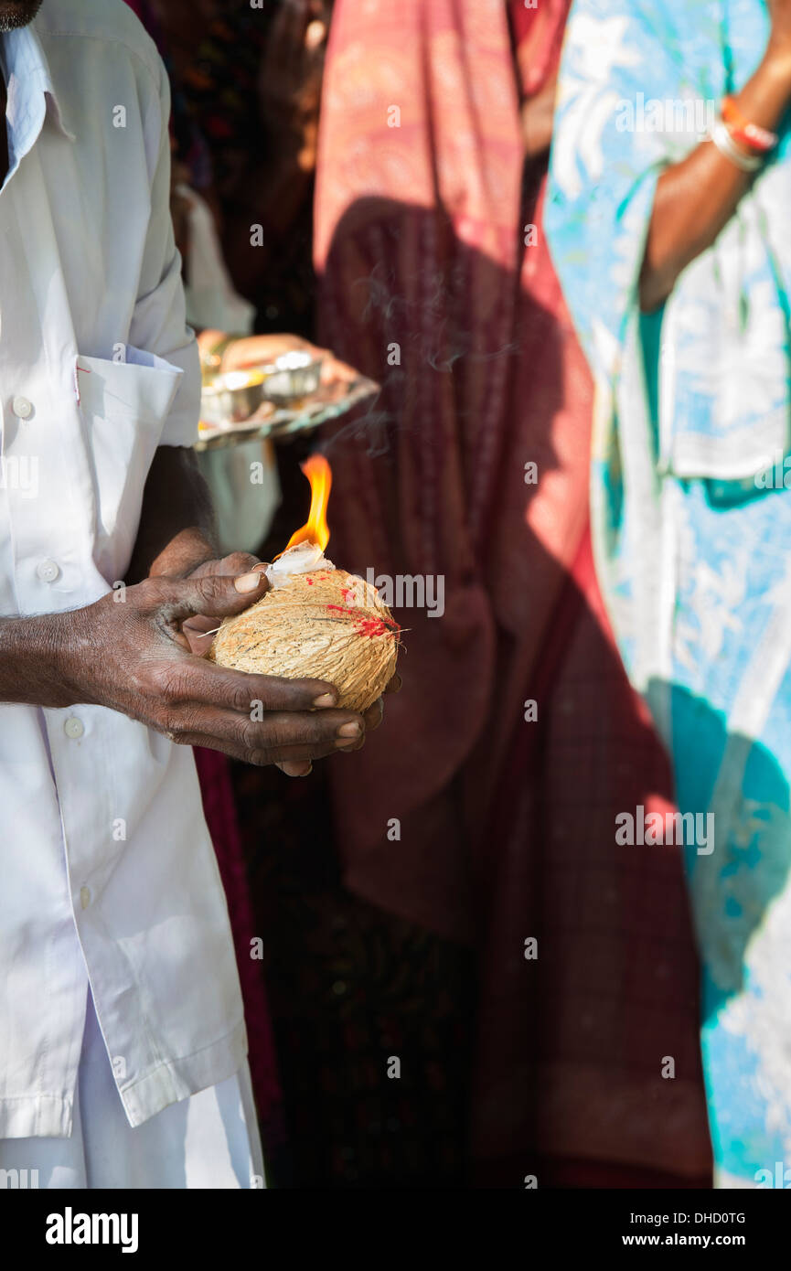 Puja Coconut Stock Photos & Puja Coconut Stock Images - Alamy