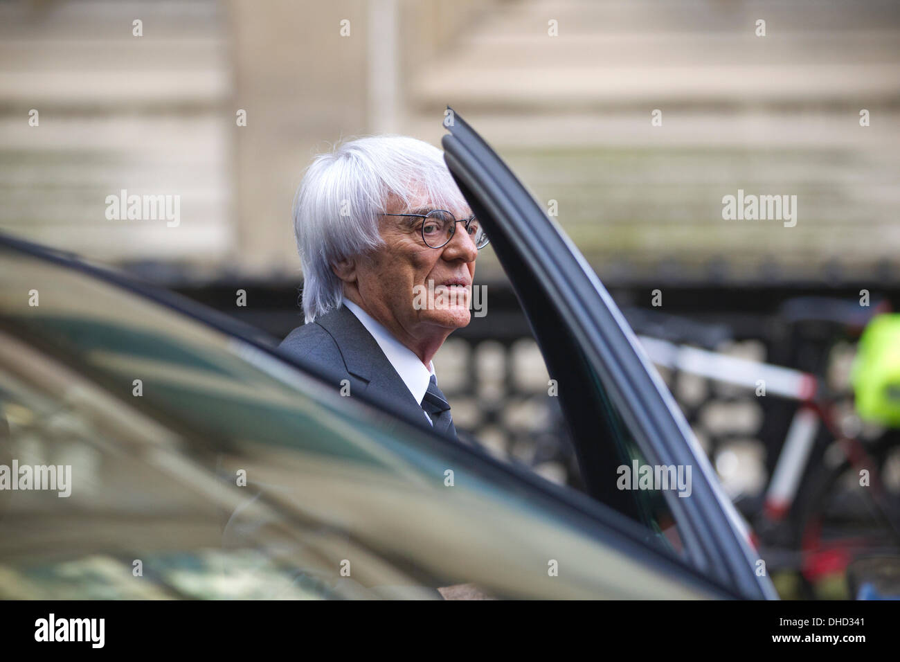 Rolls Building, High Court, London, UK. 7th November 2013. Picture shows Bernie Ecclestone arriving at the Rolls Stock Photo