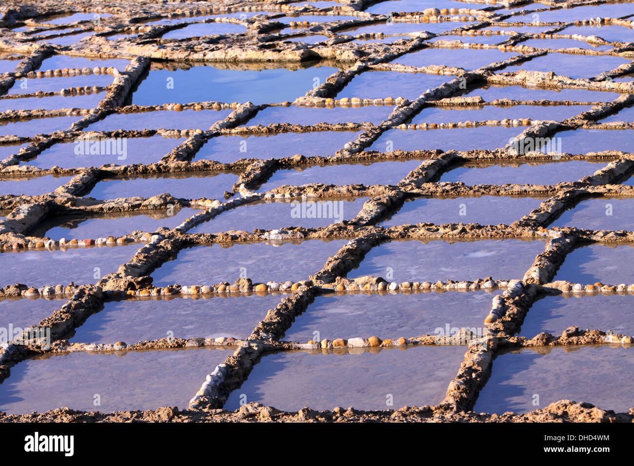 Salt works in the rocks - Stock Image
