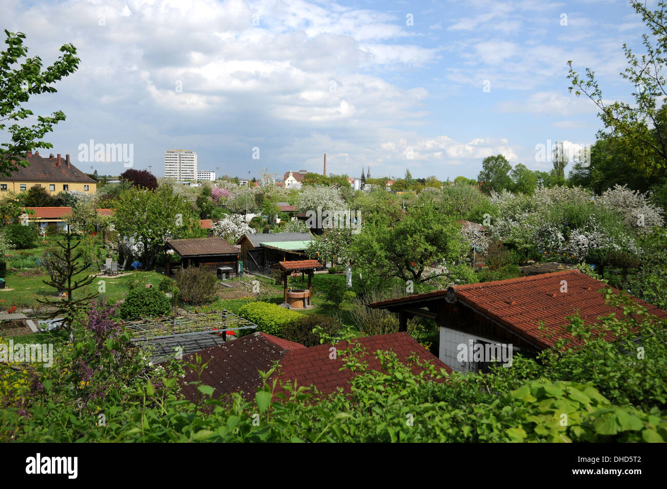 Community Gardens Stock Photo