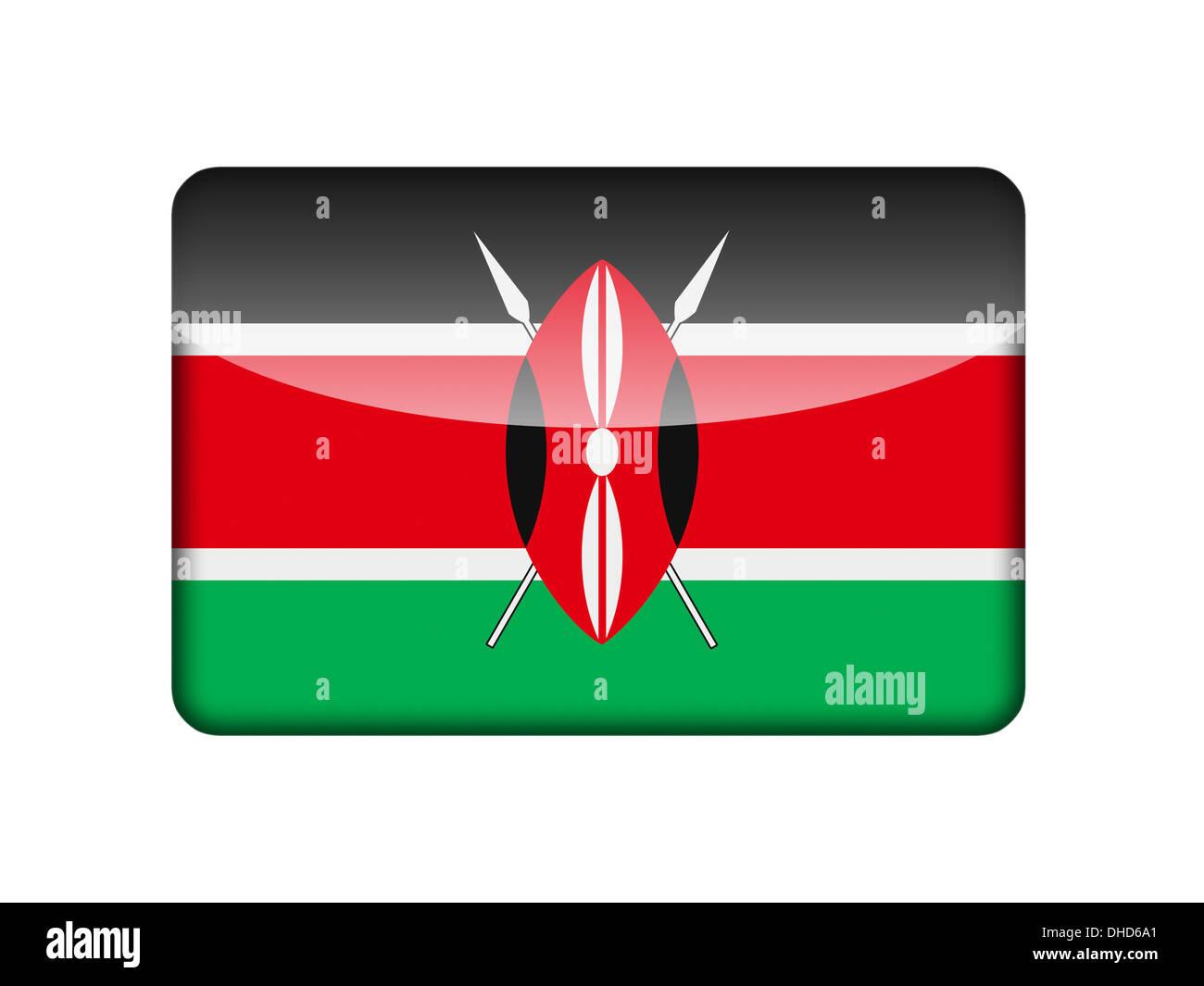 The Kenyan flag Stock Photo