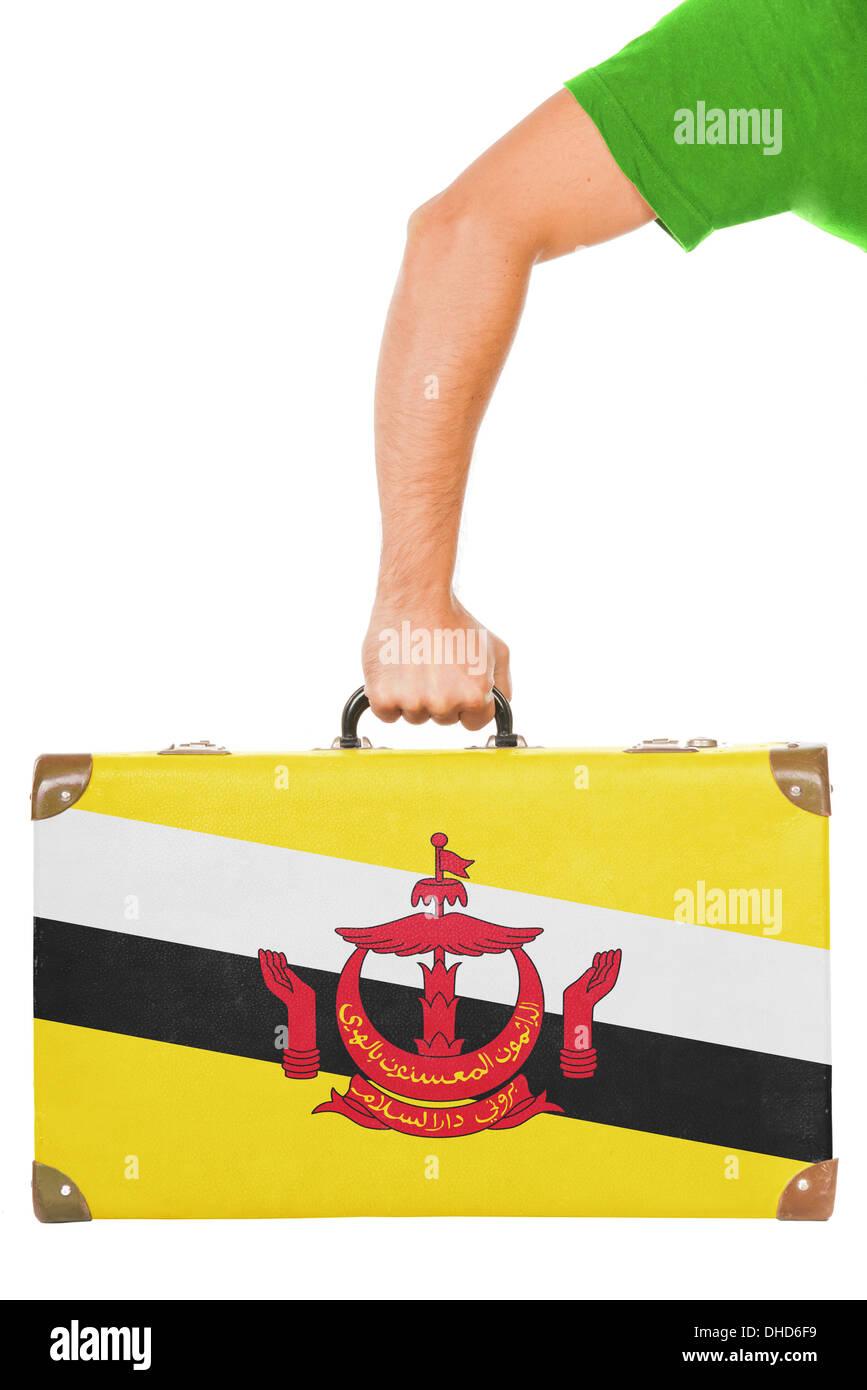 The Brunei Flag - Stock Image