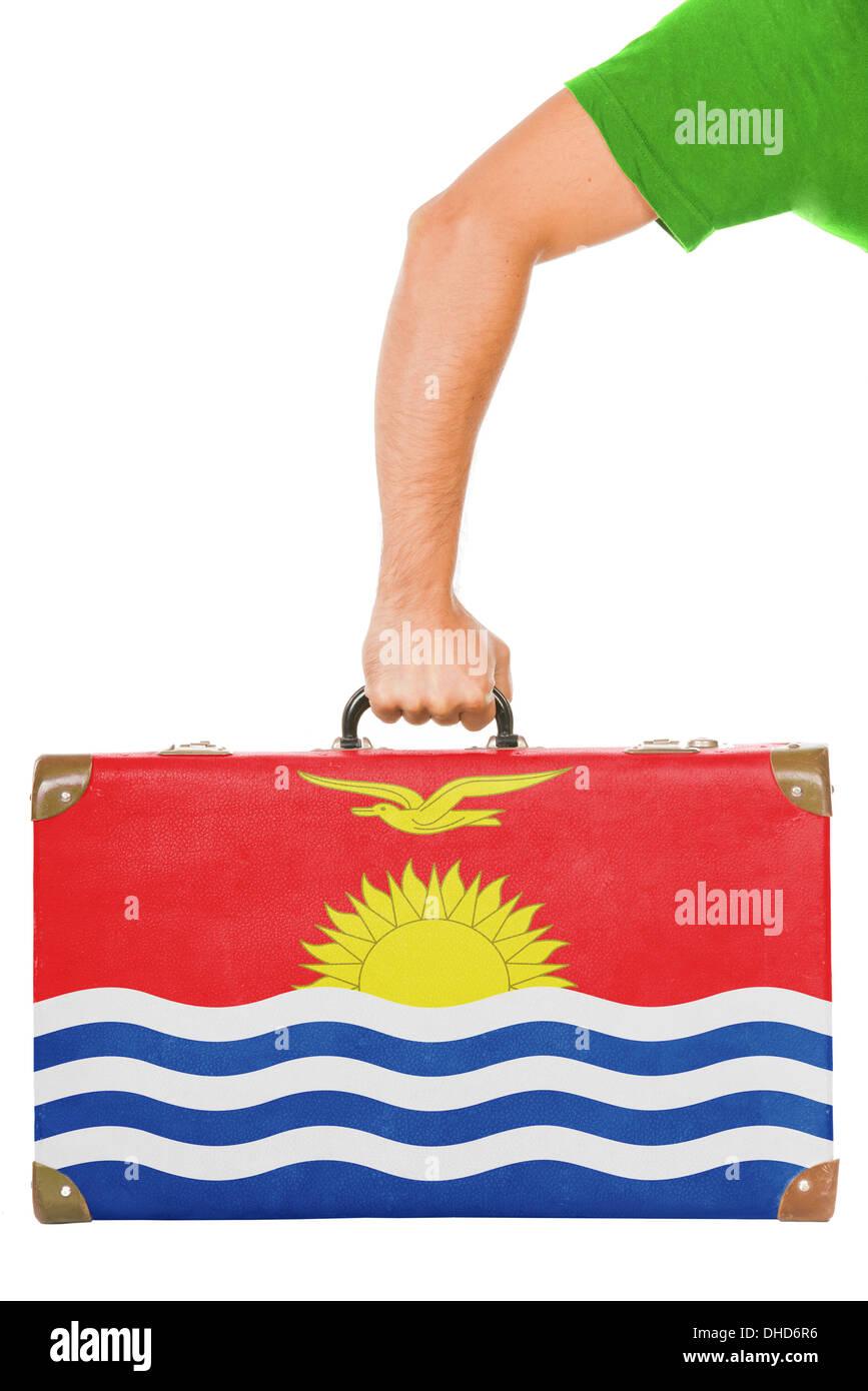 The Kiribati flag Stock Photo