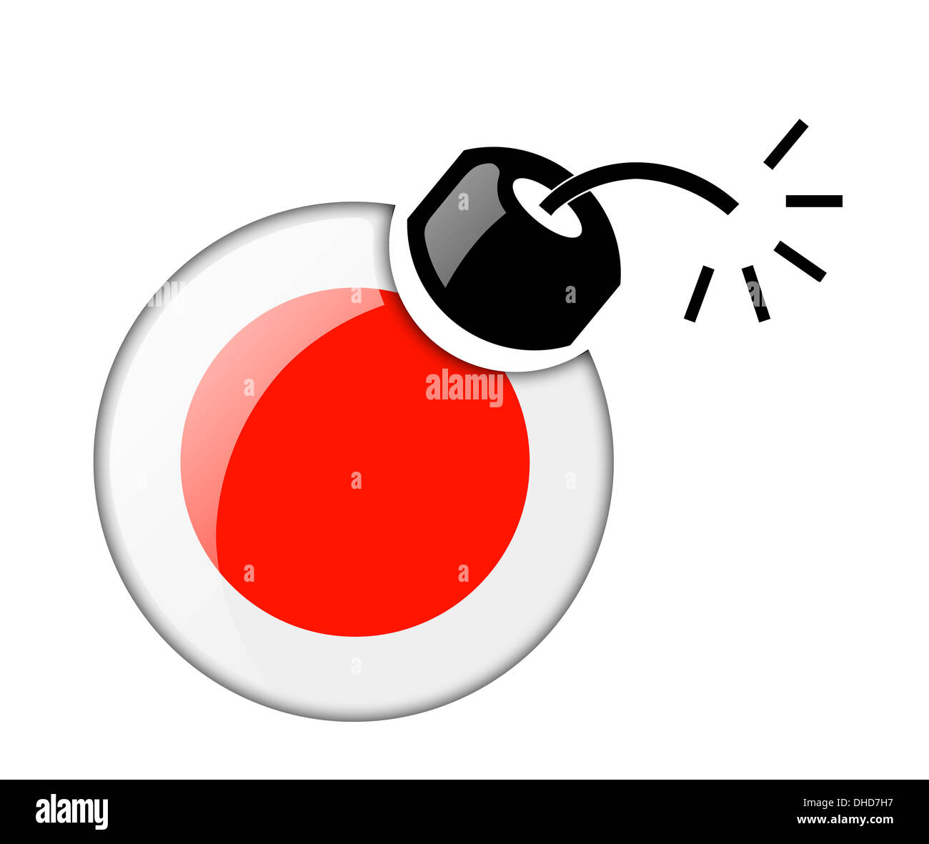 The Japan flag Stock Photo