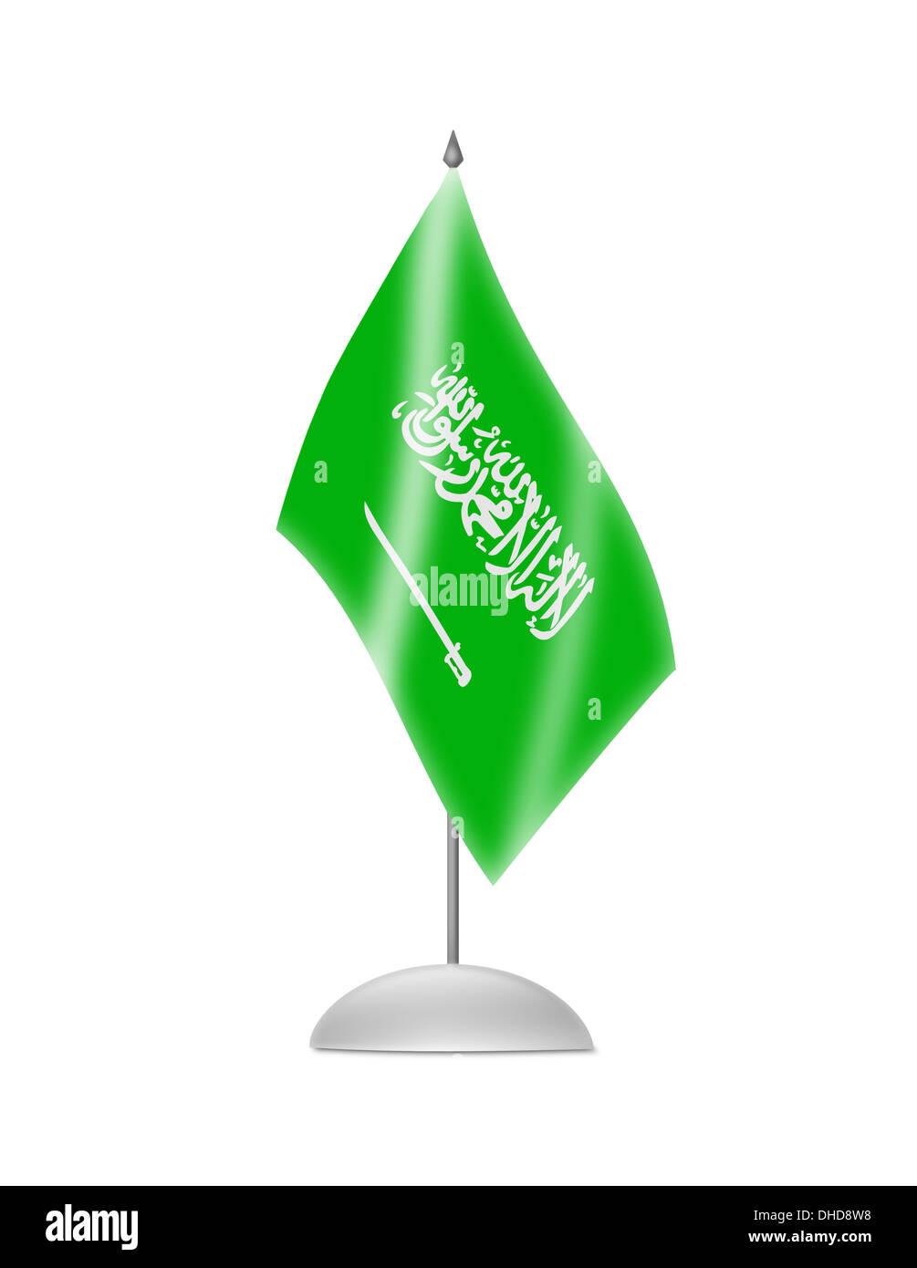 The Saudi Arabia flag - Stock Image