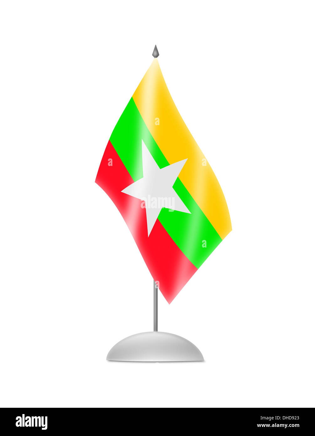 The Myanmar flag Stock Photo