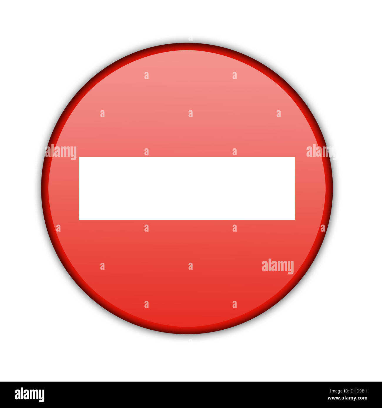 Illustration of a traffic sign - No Entry. - Stock Image