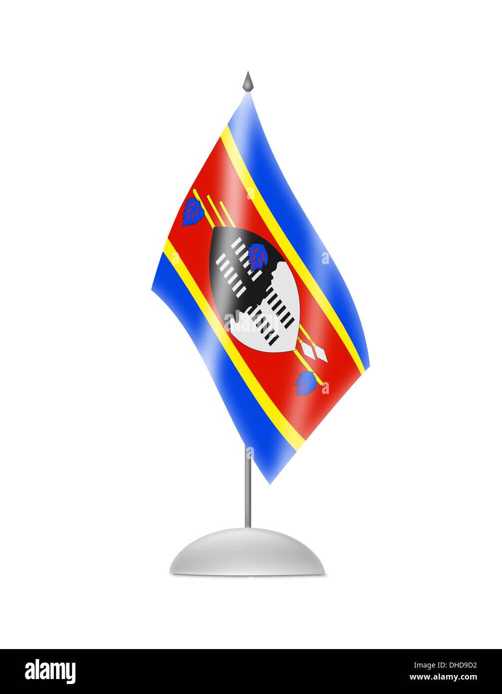 The Swaziland flag Stock Photo