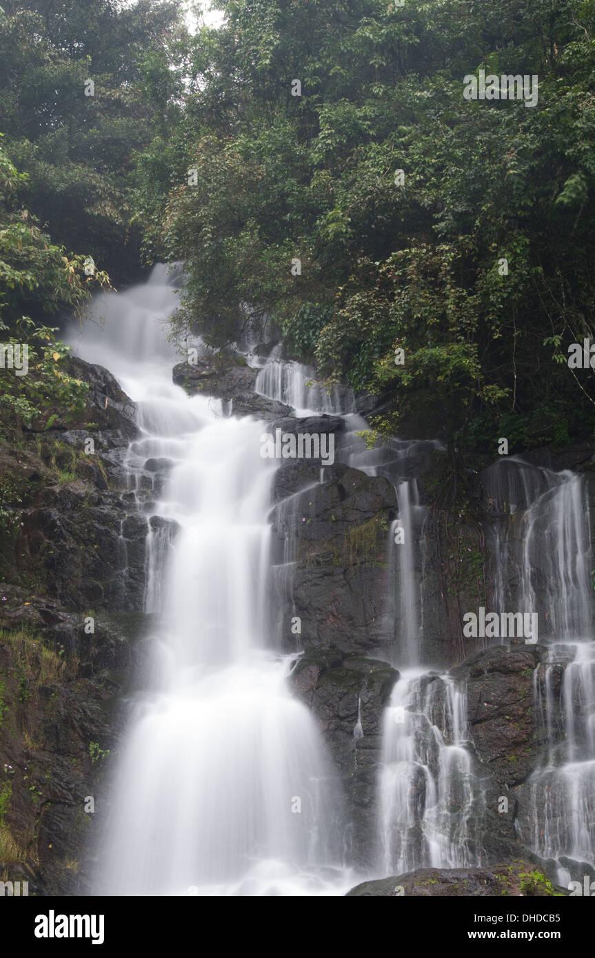 Waterfall South India kerala - Stock Image