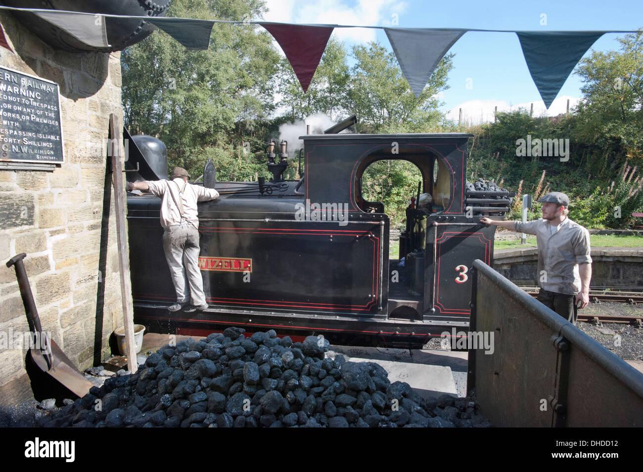 Steam Train Driver Coal Stock Photos & Steam Train Driver