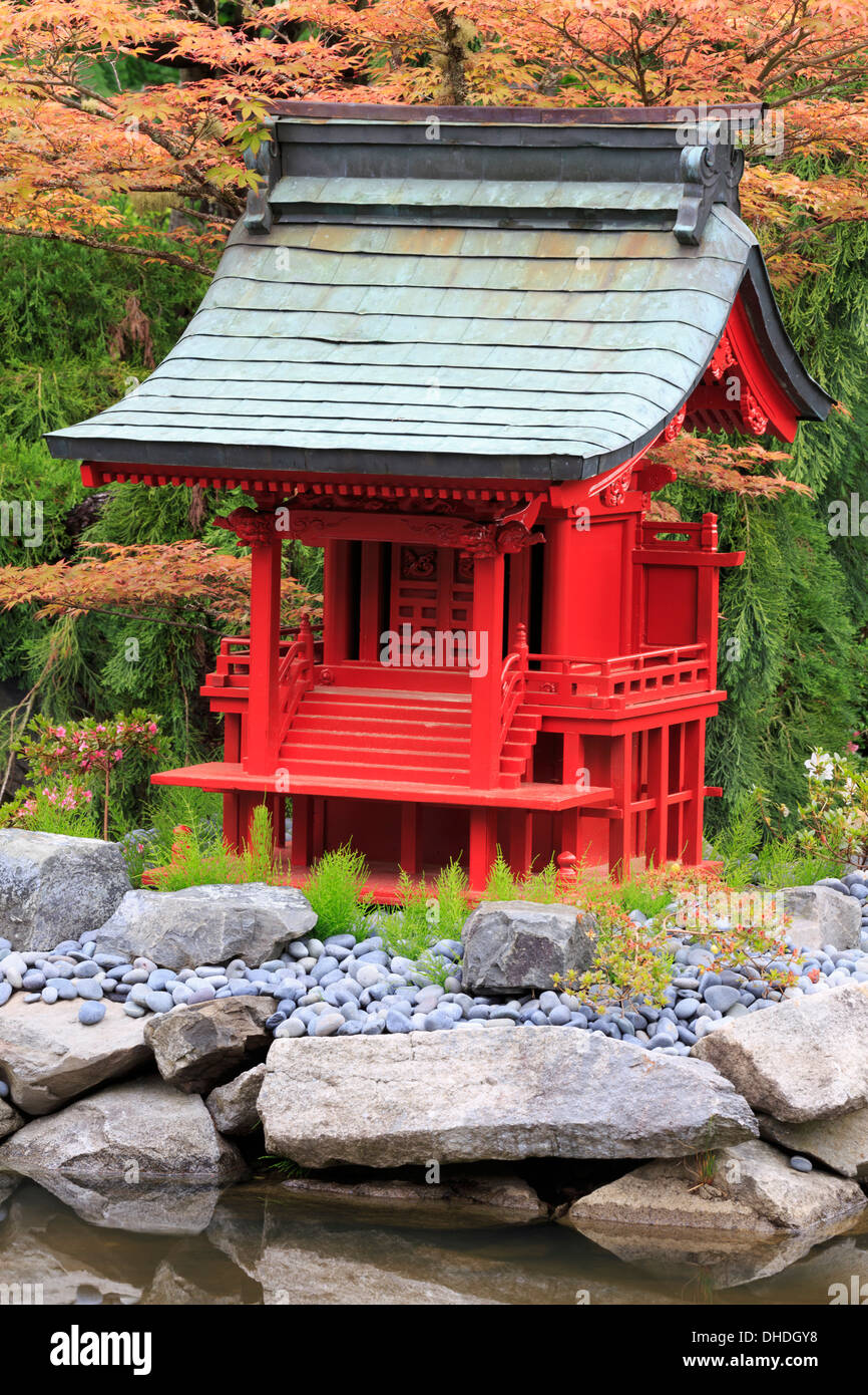 Japanese Garden in Point Defiance Park, Tacoma, Washington State, United States of America, North America - Stock Image
