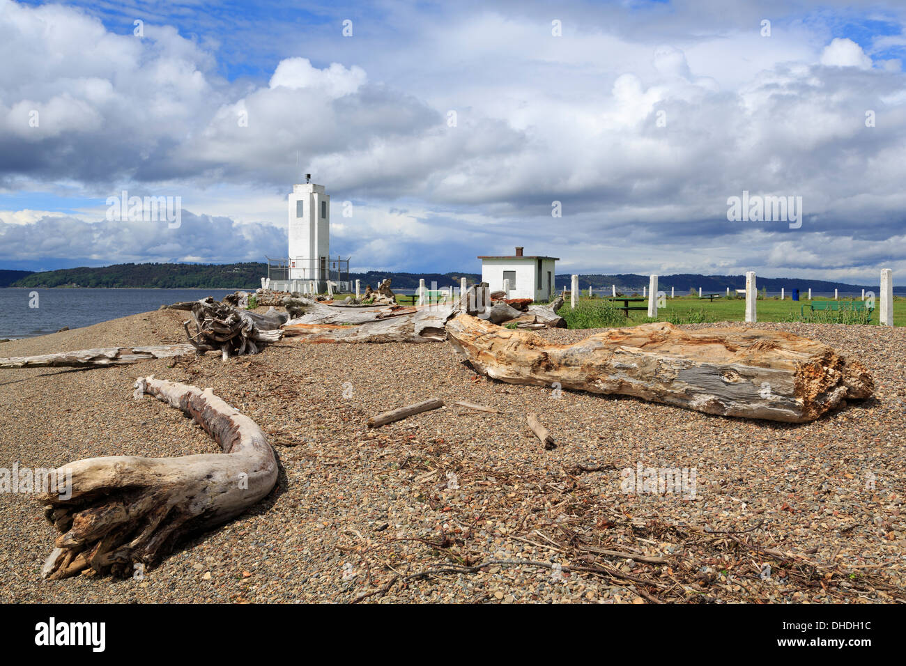 Brown's Point Lighthouse, Tacoma, Washington State, United States of America, North America - Stock Image