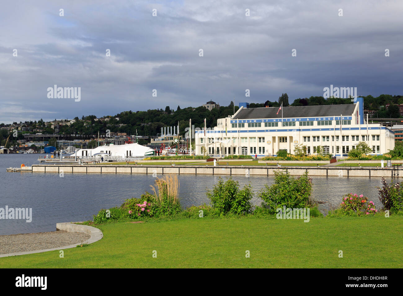 Museum of History and Industry, Lake Union Park, Seattle, Washington State, United States of America, North America - Stock Image