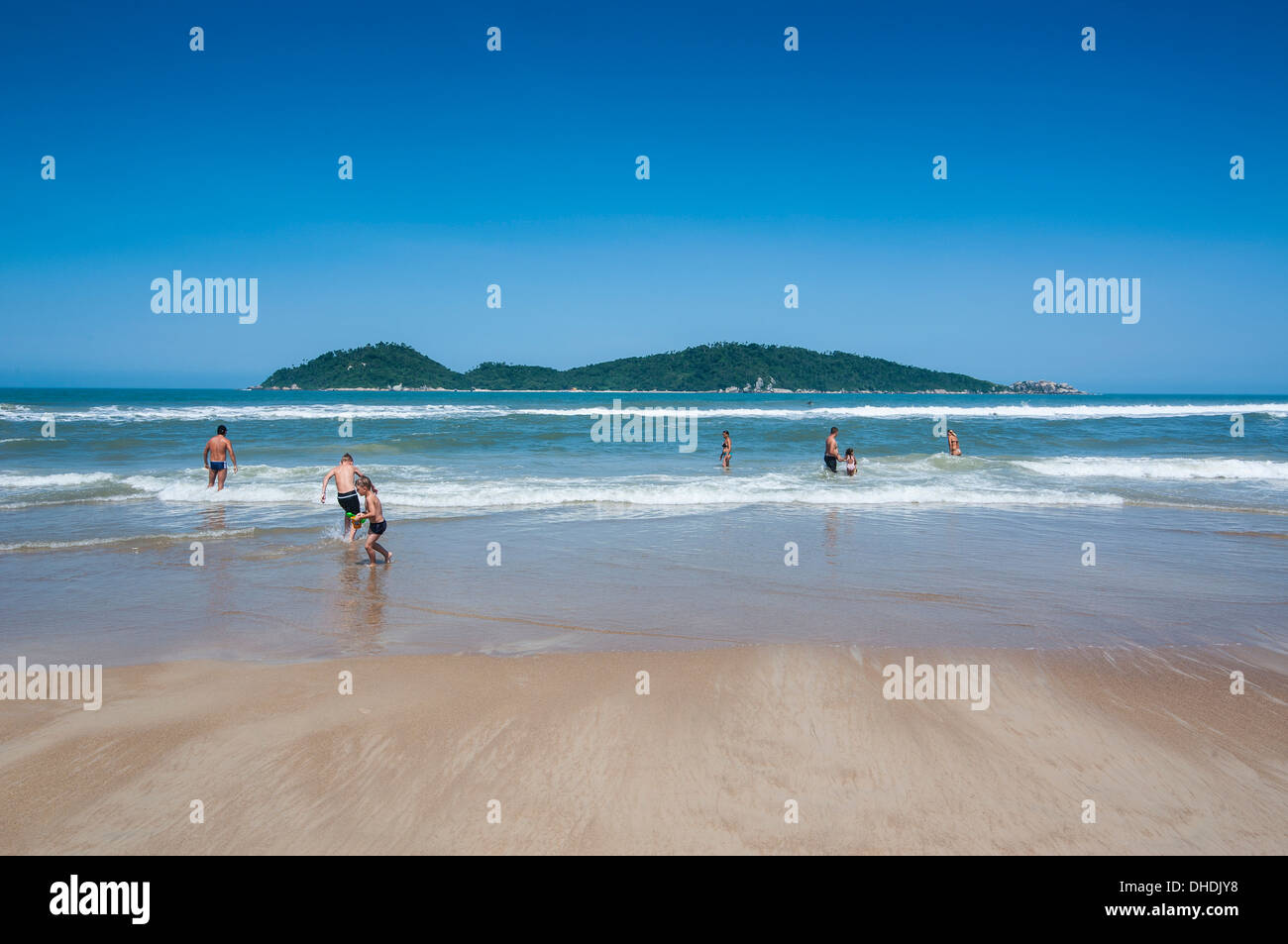 Campeche Beach on Ilha Catarina (Santa Catarina Island), Santa Catarina State, Brazil Stock Photo
