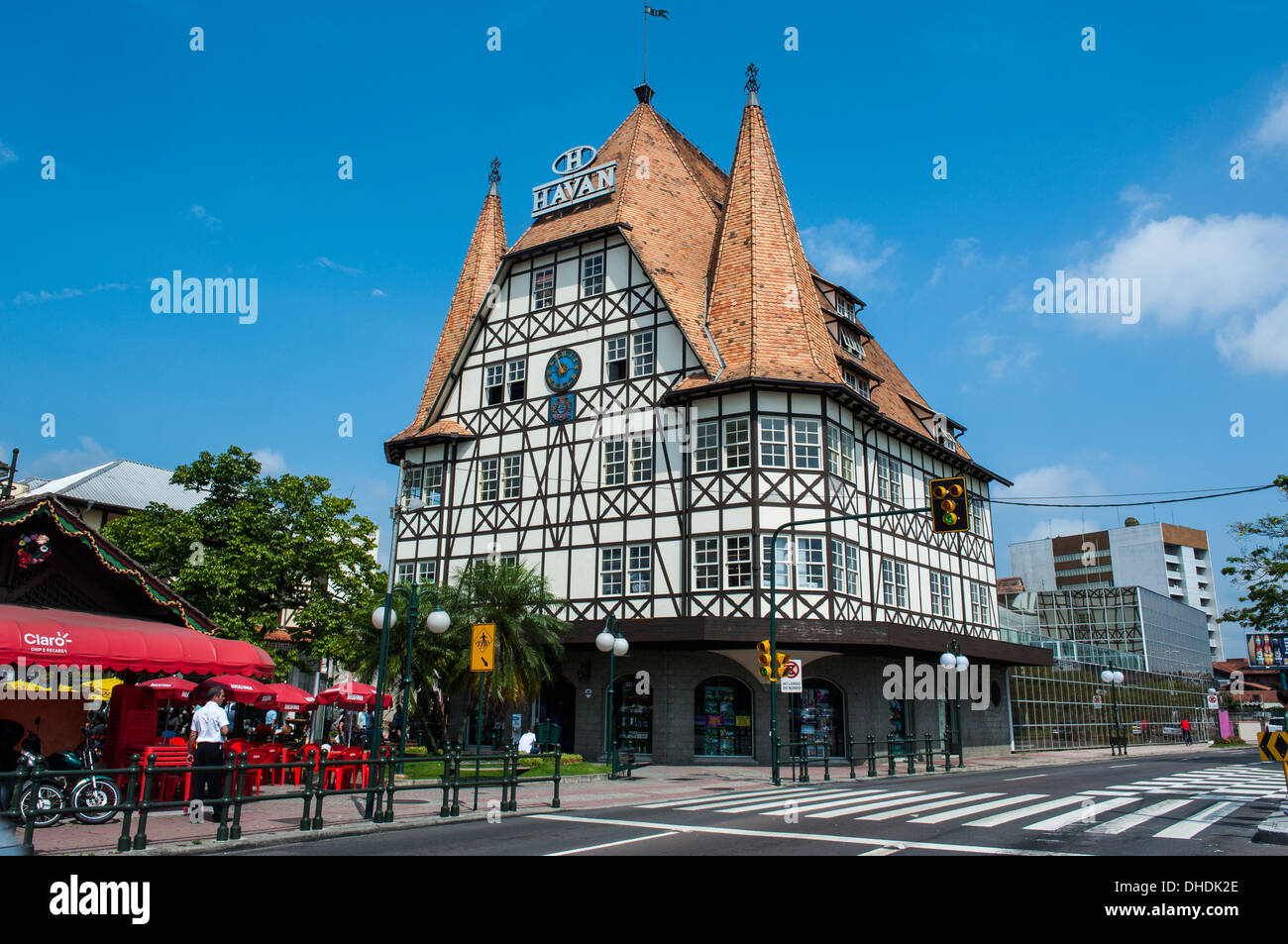 Colonial architecture in the German town of Blumenau Brazil Stock