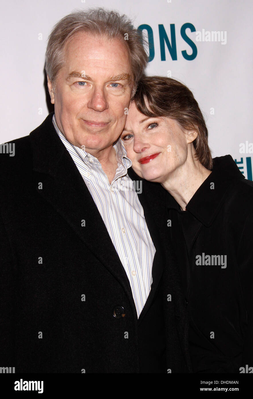 Michael McKean and Annette O'Toole Broadway opening night of 'The Lyons' at Cort Theatre – Arrivals New York City USA – Stock Photo