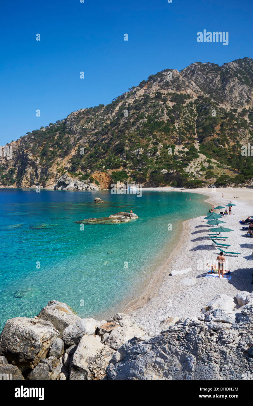 Apella Beach, Karpathos island, Dodecanese, Greek Islands, Greece, Europe - Stock Image